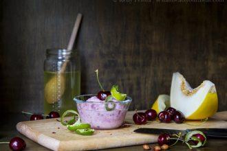 Cherry Melon Sherbet
