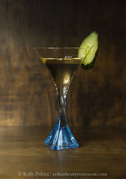 Cucumber vodka cocktail