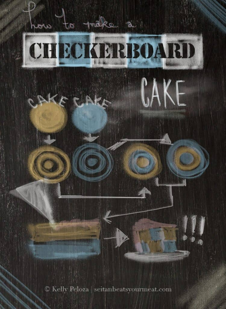 How to make a checkerboard cake without a special pan