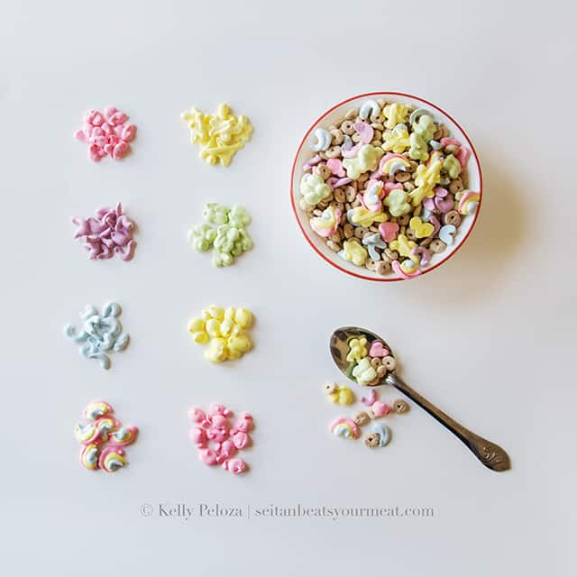 Vegan Lucky Charms recipe and Lucky Charms marshmallows