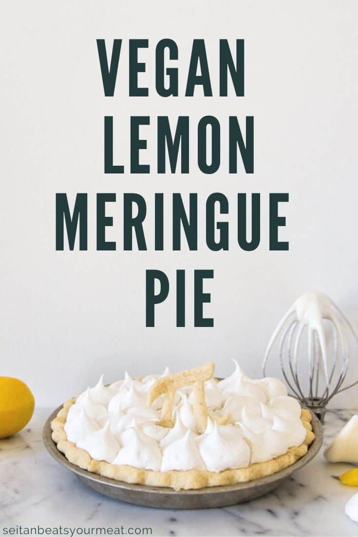 Lemon meringue pie on marble counter