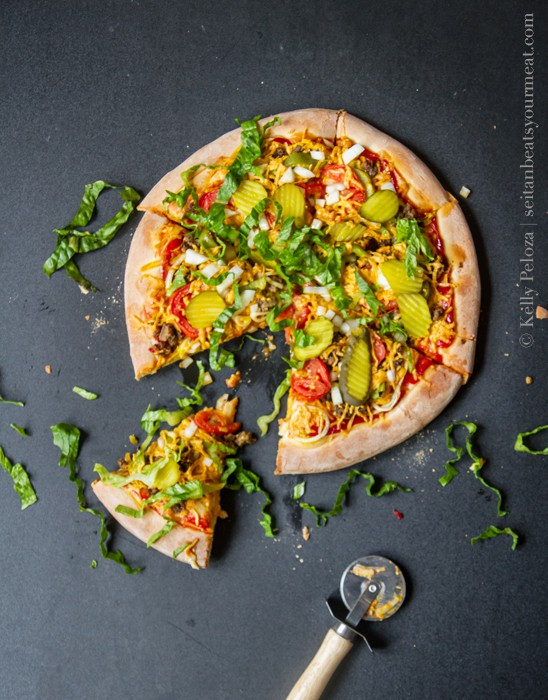 Vegan Cheeseburger Pizza Recipe