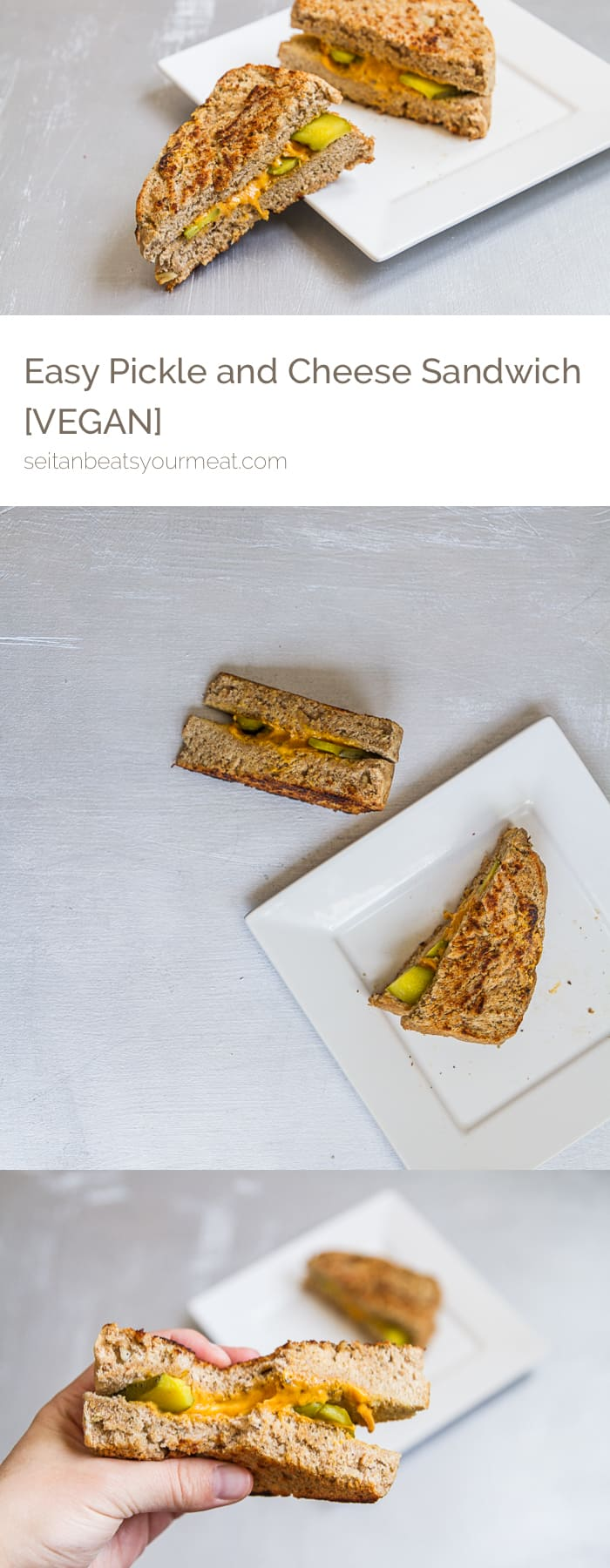 Easy, dairy-free grilled pickle and cheese sandwich