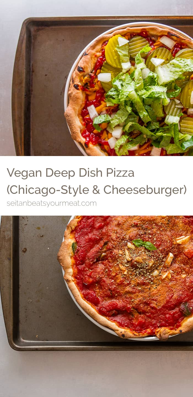Vegan deep dish pizza recipes | Seitan Beats Your Meat