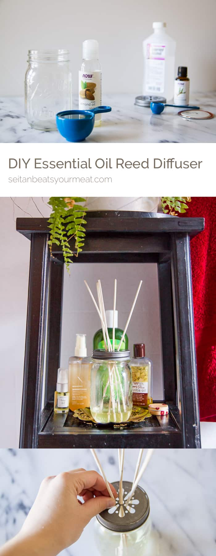 DIY essential oil reed diffuser | Seitan Beats Your Meat