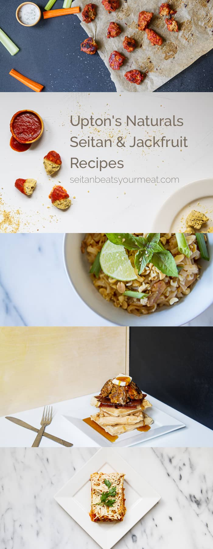 Vegan jackfruit and seitan recipes using Upton's Naturals products | Seitan Beats Your Meat