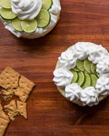Mini key lime pie with graham crackers