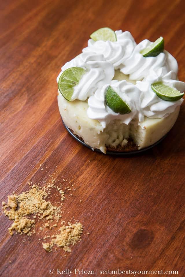 Mini vegan key lime pies with graham cracker crust