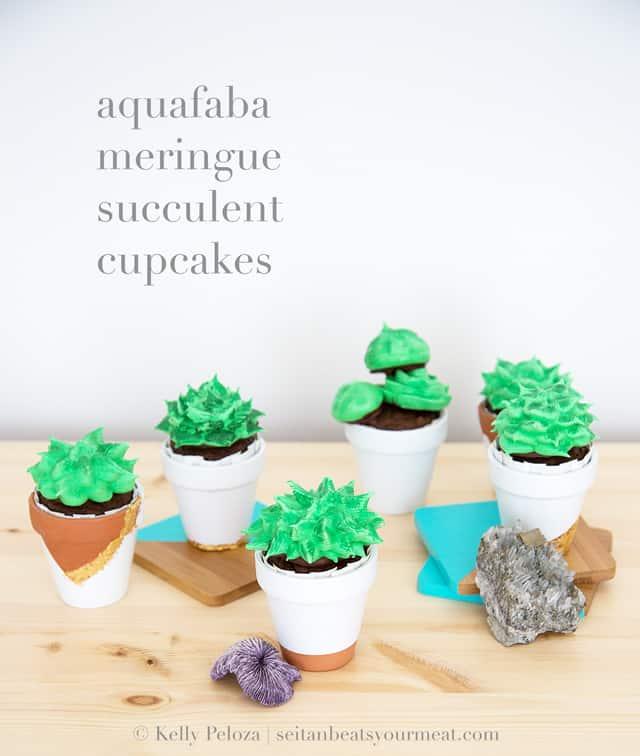 aquafaba-meringue-succulent-cupcakes
