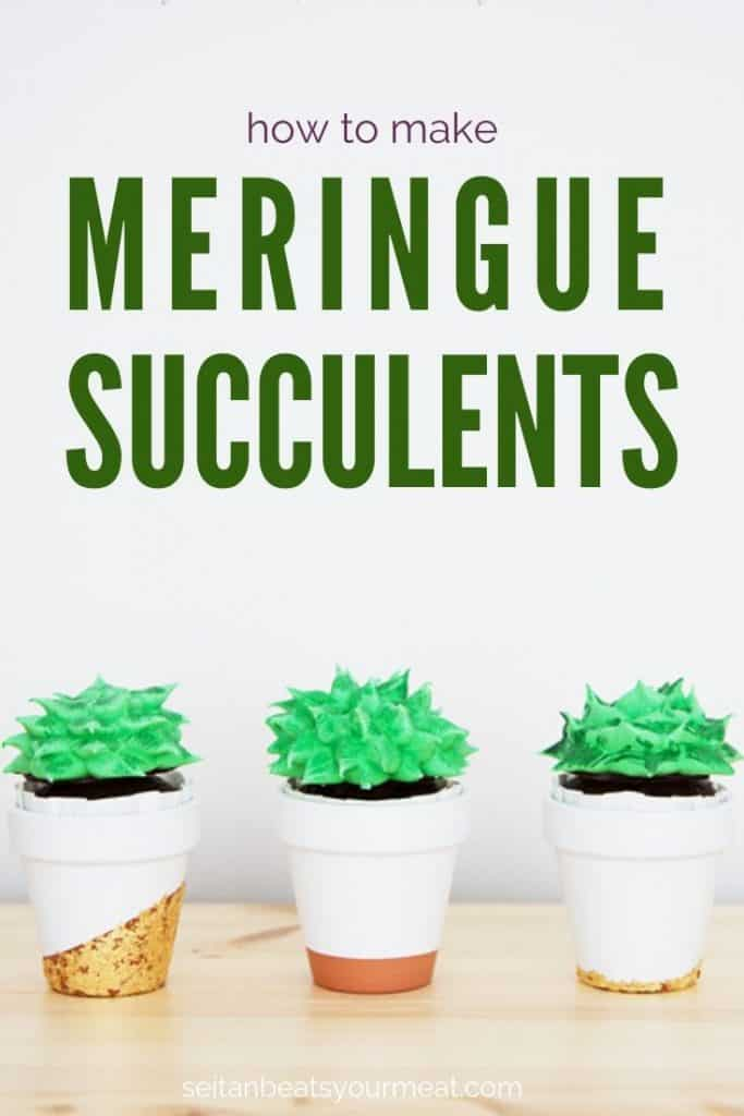 Succulent cupcakes in small terra cotta pots