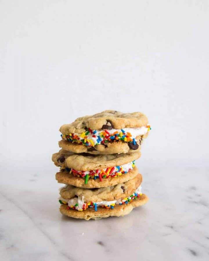 Chocolate Chip Cookie Sandwiches with Oreo Buttercream