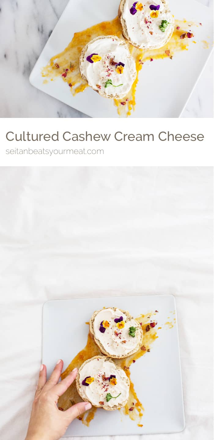 Cultured Cashew Cream Cheese (vegan, gluten free, dairy free, soy free) | Seitan Beats Your Meat
