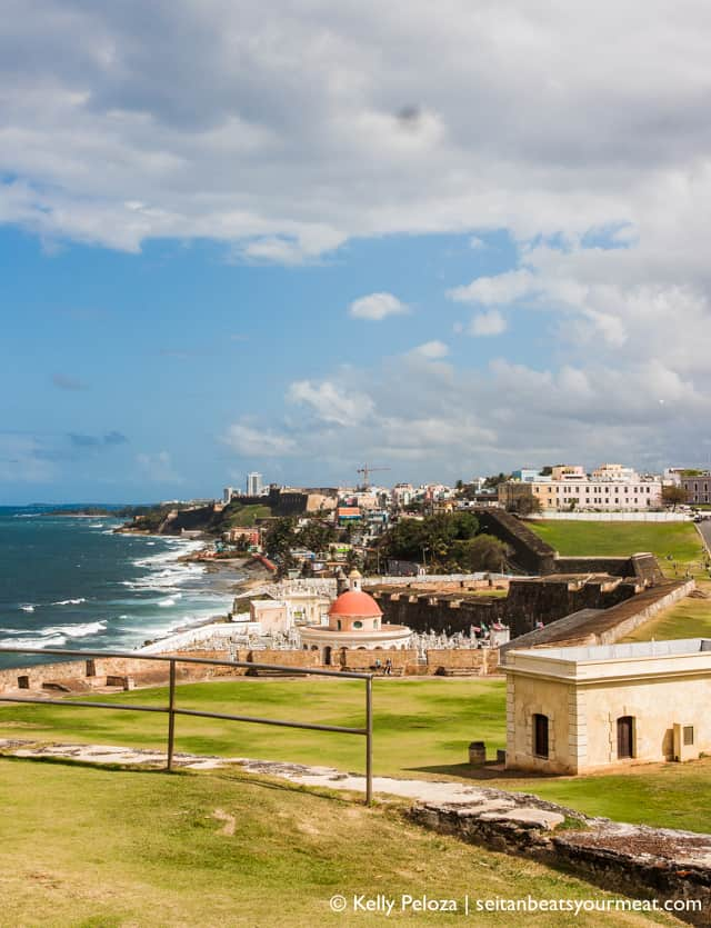 Landscape photo in Old San Juan with La Perla in background