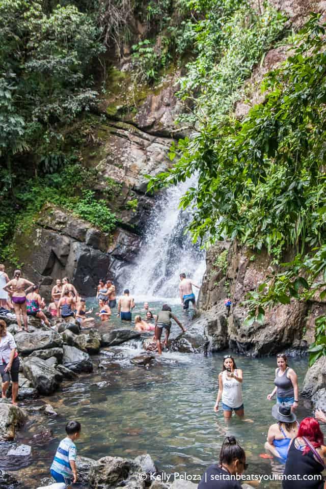 La Mina Falls at El Yunque rainforest in Puerto Rico
