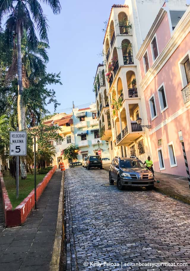Colorful streets and buildings in Old San Juan, Puerto Rico