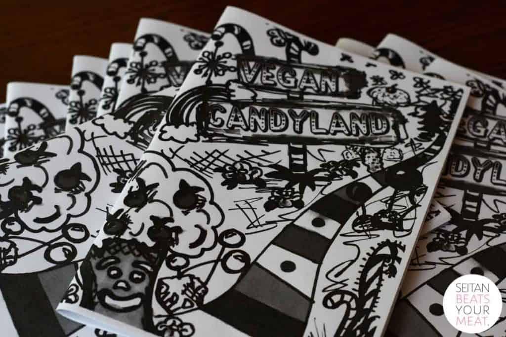 Stack of Vegan Candyland zines