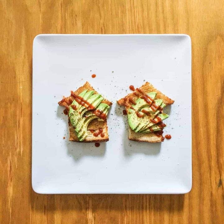 Avocado Toast House on a plate