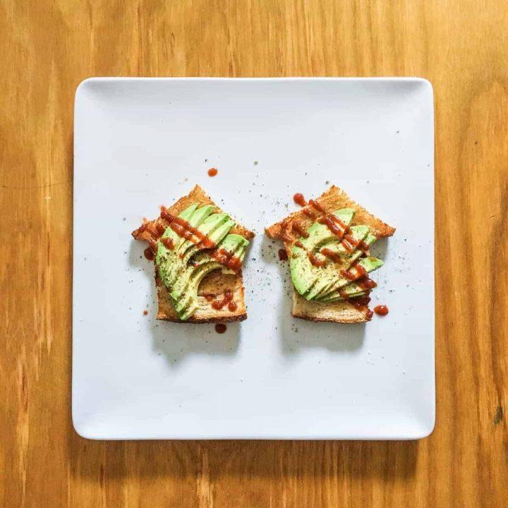 Avocado Toast House on a plate
