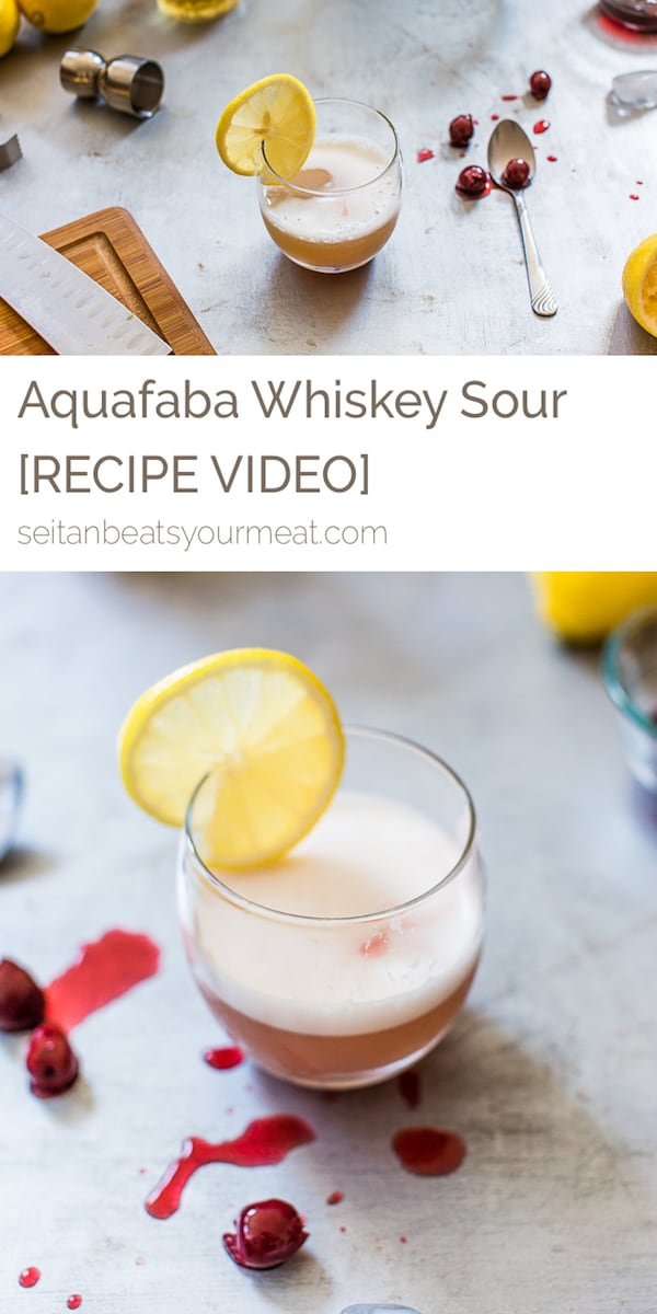 Pinterest - Aquafaba whiskey sour recipe