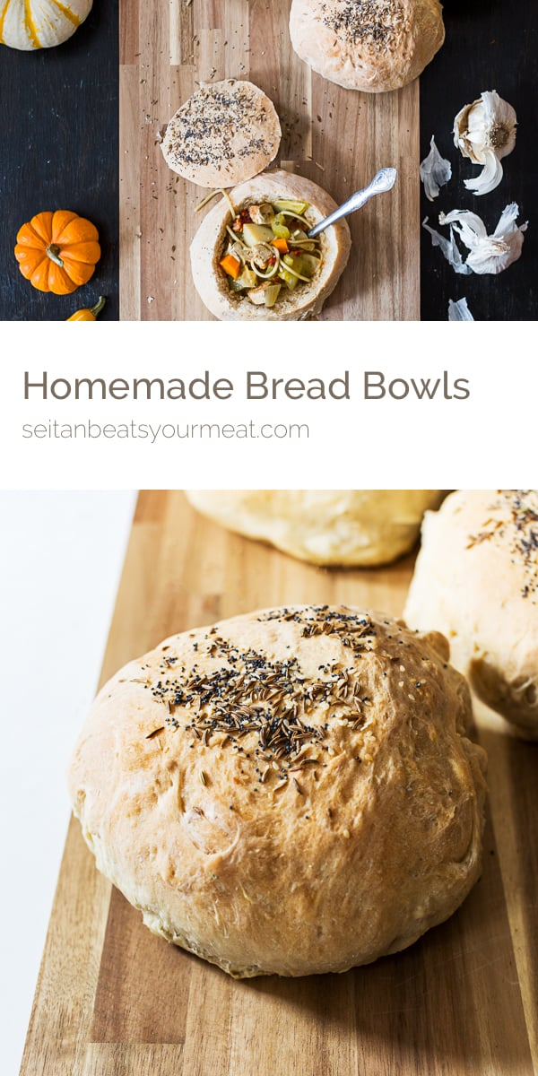 Pinterest - Making bread bowls for soup