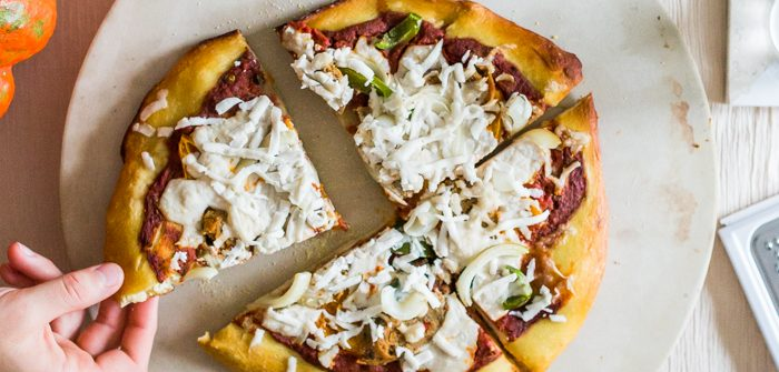 Vegan pretzel crust pizza recipe