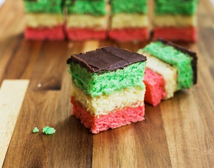 italian rainbow cookies - List Italian Christmas Cookies