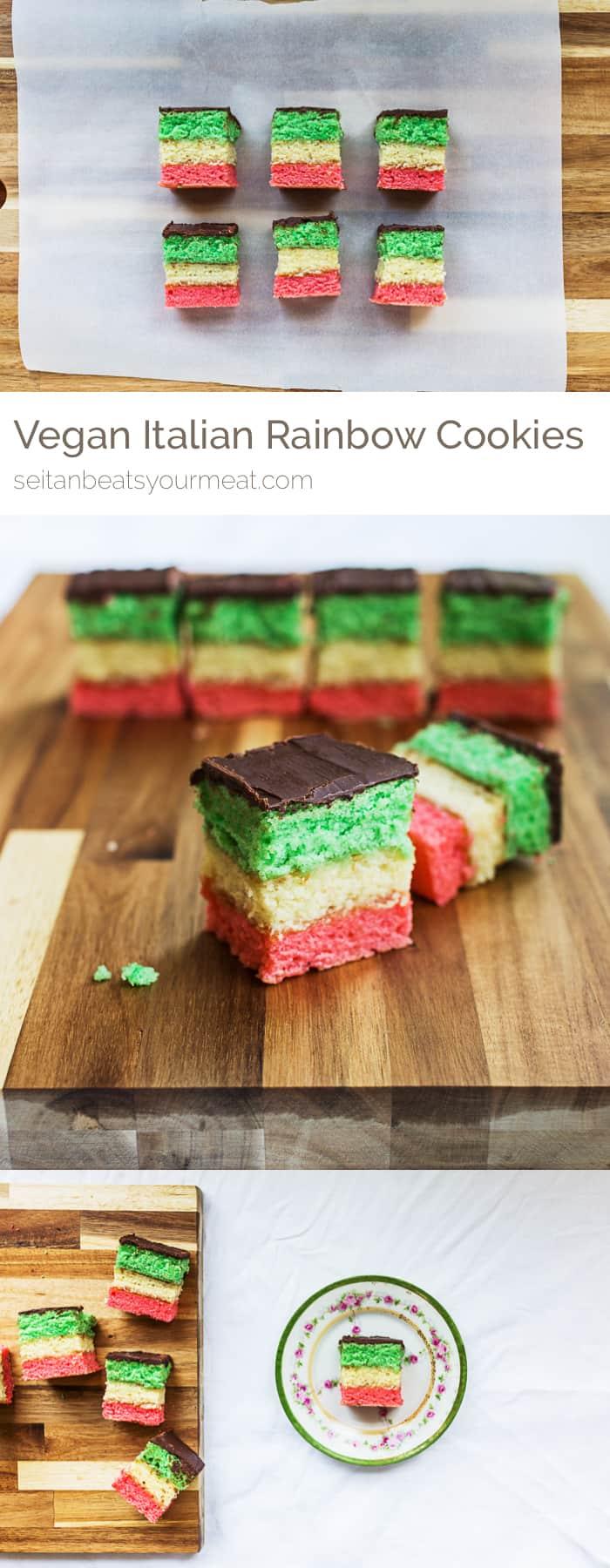 Vegan Italian Rainbow Cookies recipe
