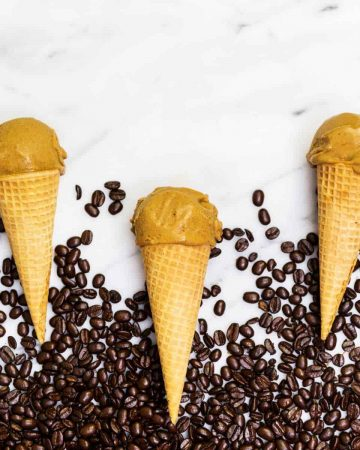 Vegan pumpkin spice latte ice cream