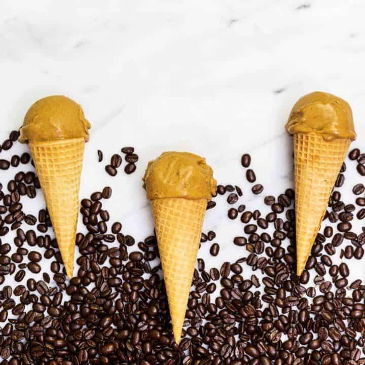 Vegan pumpkin spice latte ice cream
