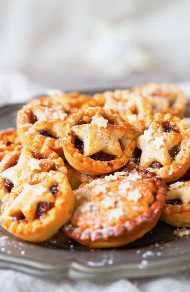 Tray of mini vegan mince pies