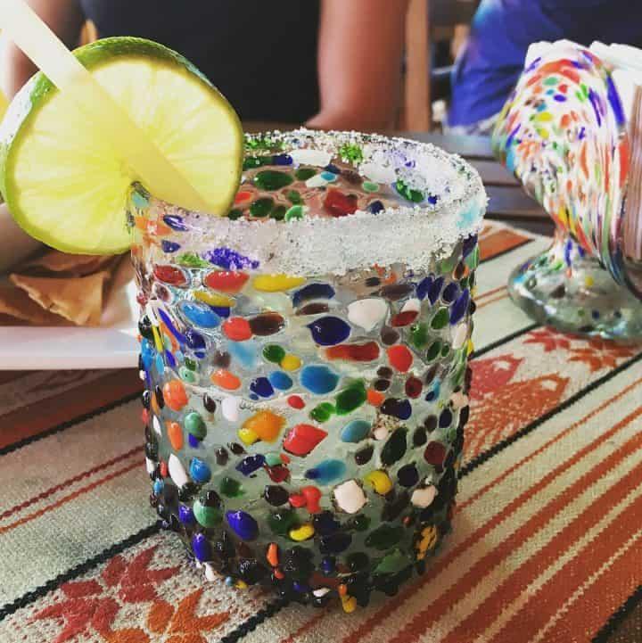 Margarita in colorful glass